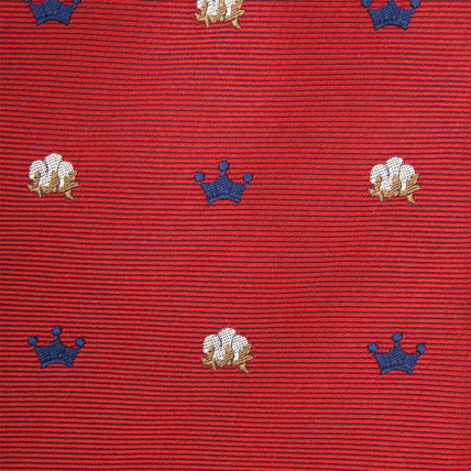 Woven King Cotton Bow - Red